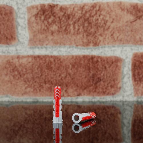80 tacos de nailon para cualquier tipo de pared de 30 mm y ø6 mm