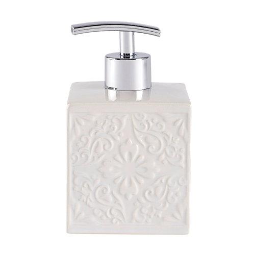 Dispensador de jabón cordoba de cerámico blanco