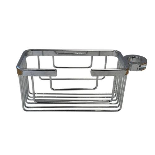 Cesta de baño / ducha ordenación gris / plata 20x10 cm