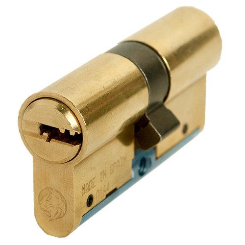 Cilindro perfil europeo (pera) lince c6w53535l latonado de 35 + 35 mm