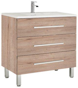 Mueble Baño Madrid Roble 100 X 45 Cm Leroy Merlin