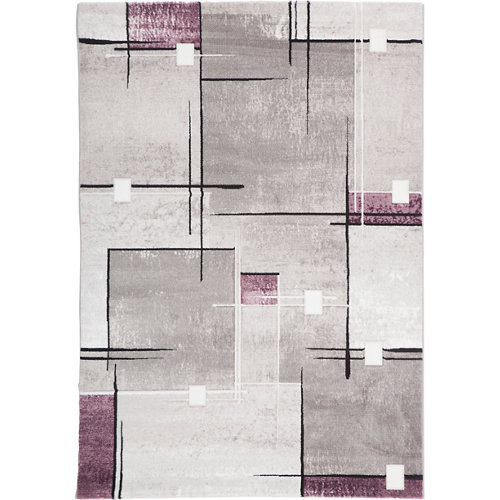 Alfombra violeta polipropileno detroit 20614 55 160 x 230cm