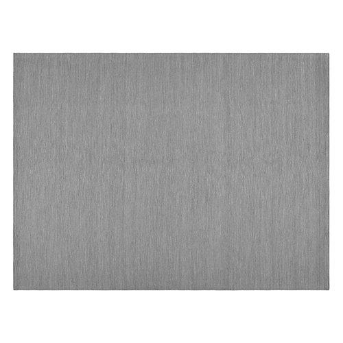 Alfombra gris lana nordic dark 80 x 120cm