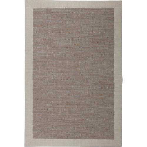 Alfombra beige pvc beauty 120 x 120cm