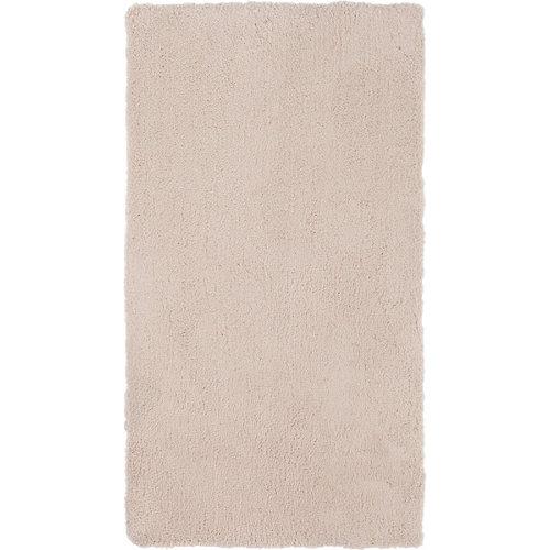 Alfombra pie de cama beige poliéster shanghai liso 60 x 110cm