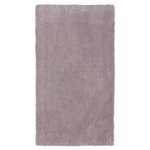 Alfombra gris poliéster shanghai liso 140 x 200cm