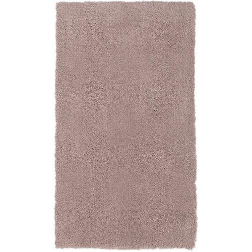 Alfombra marrón poliéster shanghai liso 140 x 200cm