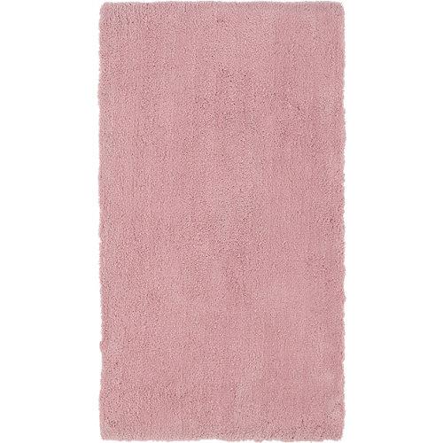 Alfombra pie de cama rosa poliéster shanghai liso 60 x 110cm