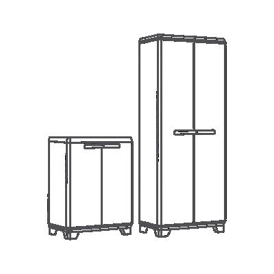 Kit  2 armarios