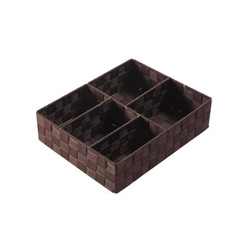 Organizador de cajón 5 huecos de color marrón