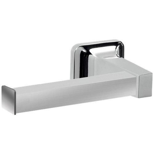 Portarollo wc k2 gris / plata brillante 16.5x4.8x8.3 cm