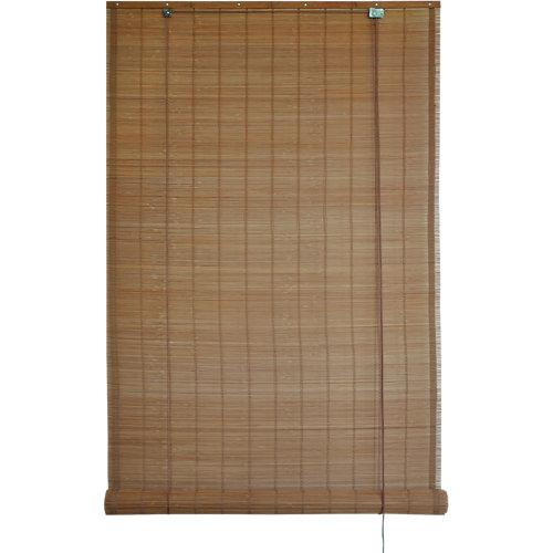 Estor enrollable de bambú marrón inspire de 180x300cm