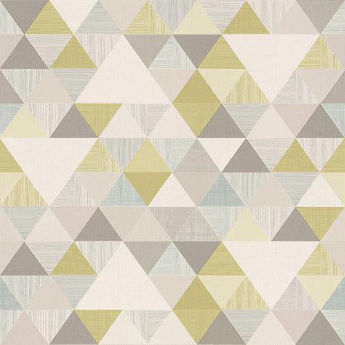 Papel pintado triángulos verde k 5 m²