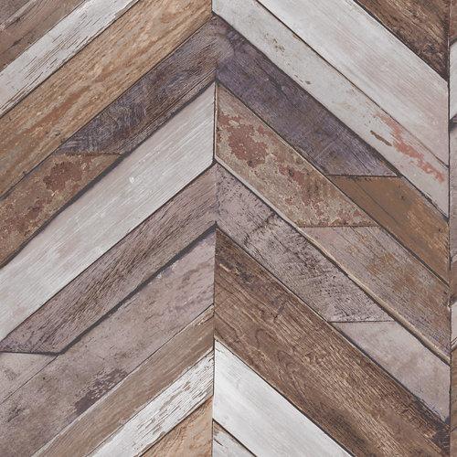 Papel imitación madera azul 5,3 m²