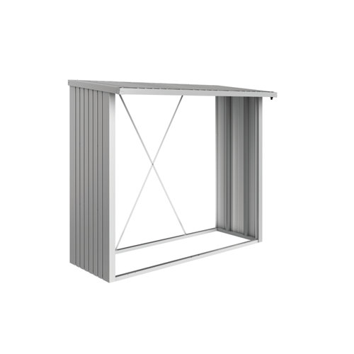 Leñero aluminio gris / plata 229x199x102 cm