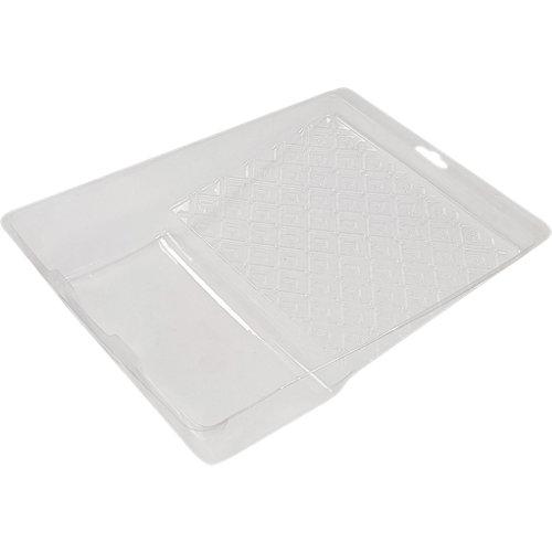 Bandeja desechable de pintura transparente