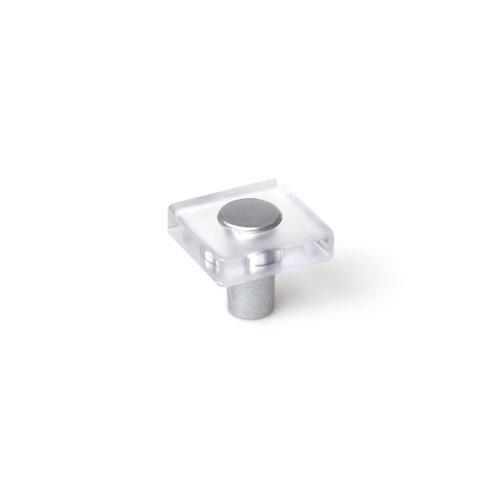 Tirador de abs cristal transparente, medidas: 30x26mm
