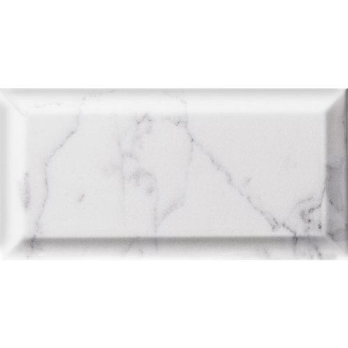 Azulejo cerámico 10x20 biselado carrara metro