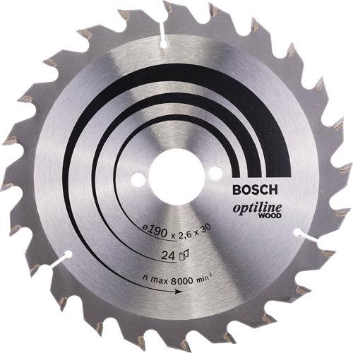 Hoja de sierra para madera bosch 24t de 30 mm