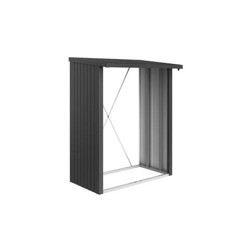 Leñero acero biohort gris oscuro 157x199x102 cm