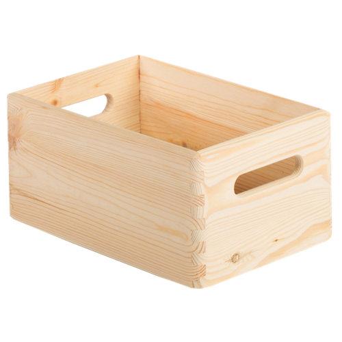 Recipiente de madera de 14x20x30 cm