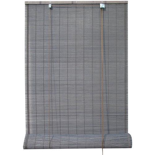 Estor enrollable de bambú gris inspire de 120x230cm