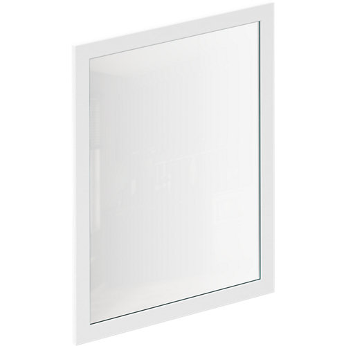 Puerta de cocina vitrina newport blanco mate 59,7x76,5 cm
