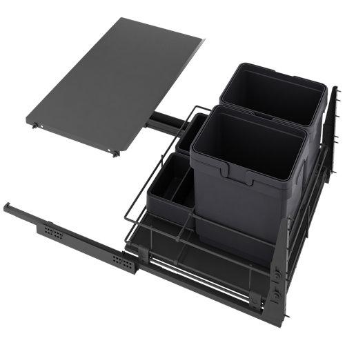 Cubo para interior extraíble delinia 2 x 16 litros 76,8x56x60 cm