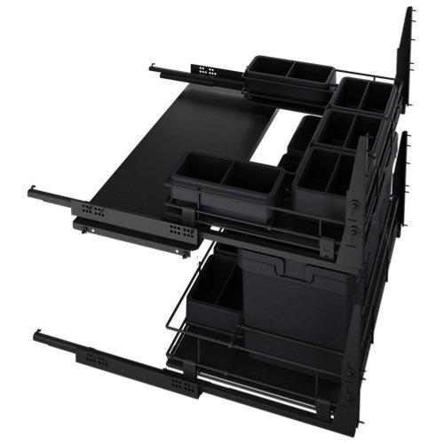 Cubo para interior extraíble 33 + 16 litros 76,8x56x80 cm