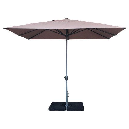 Comprar Parasol cuadrado aluminio y acero easywind marrón 300x300 cm