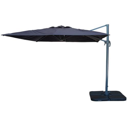 Comprar Parasol excéntrico de aluminio easywind foehn gris 300x300 cm