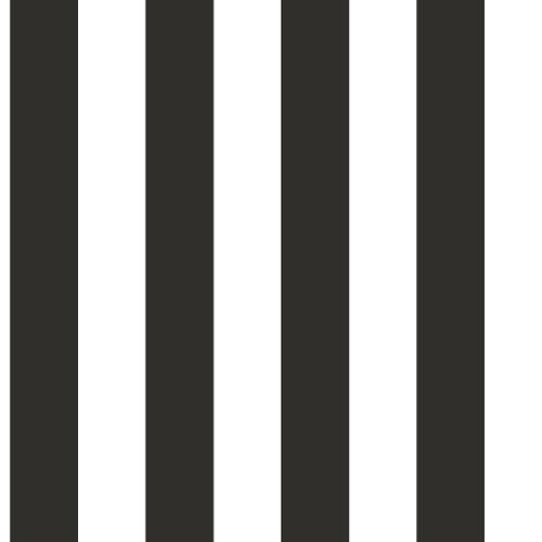 Papel pintado rayas negro 5,3 m²