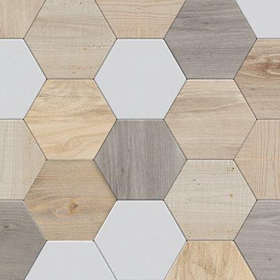 Revestimieno de pared de PVC Element 3D GROSFILLEX Tomette graf 37.5x0.8x260 cm