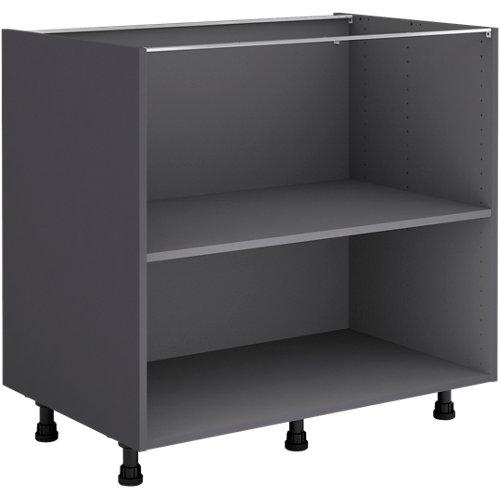 Mueble bajo cocina gris delinia id 90x76,8 cm