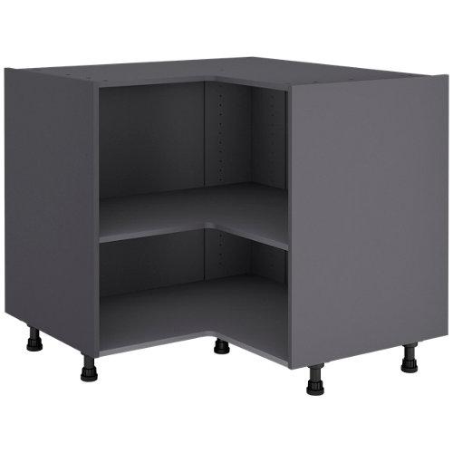 Mueble bajo de ángulo gris delinia id 97x76,8 cm