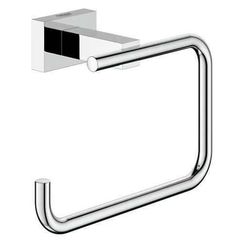 Portarollo wc essentials cube gris / plata 13.8x9.8x6 cm
