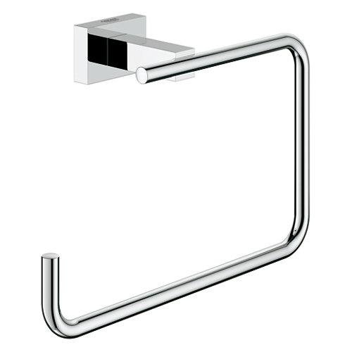 Toallero pared gris / plata 18.6x12.3 cm