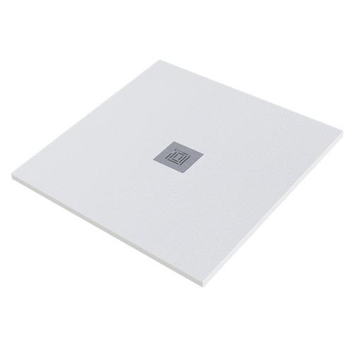 Plato ducha stone 80x80 cm blanco