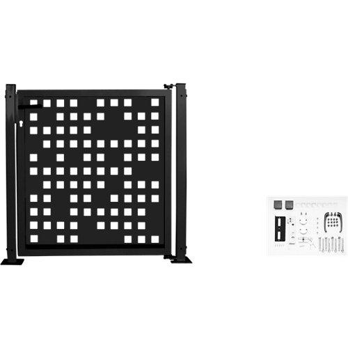 Kit puerta para valla tetris 116 x 93,5 cm gris forja