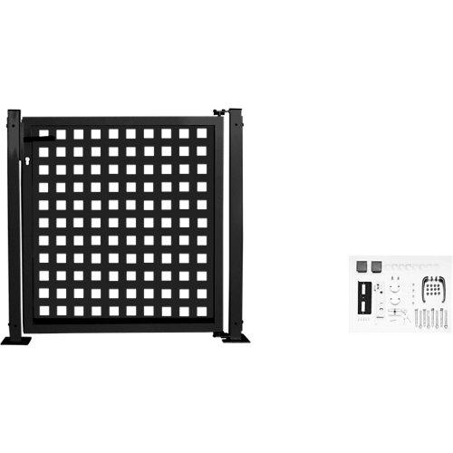 Kit puerta para valla square 116 x 93,5 cm gris forja