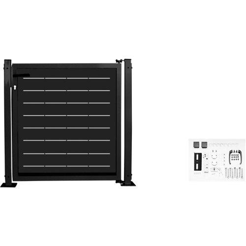 Kit puerta para valla lines 116 x 93,5 cm gris forja