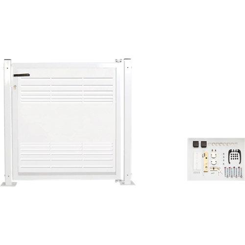 Kit puerta para valla parallels 116 x 93,5 cm blanco
