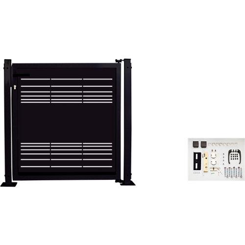 Kit puerta para valla parallels 116 x 93,5 cm negra