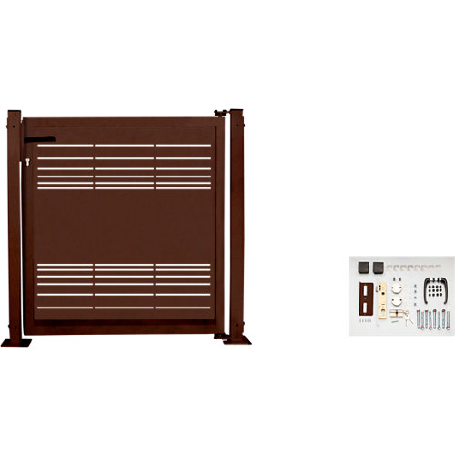 Kit puerta para valla parallels 116 x 93,5 cm óxido