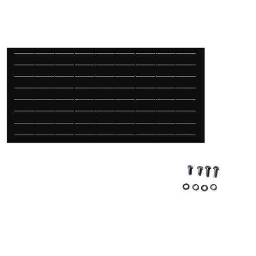 Valla de jardín de acero galvanizado negra 195x94 cm