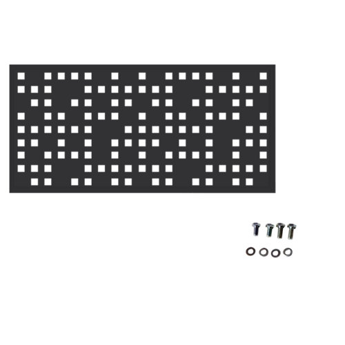 Valla de jardín de acero galvanizado tetris gris forja 195x94 cm