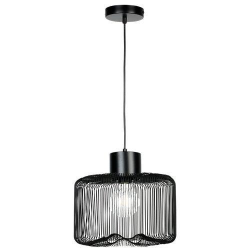 Lámpara de techo gippy negra 1 luz