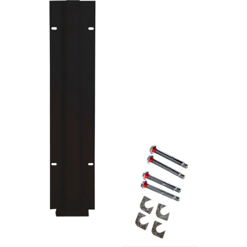 Poste atornillar intermedio apto para valla sobre muro gris forja