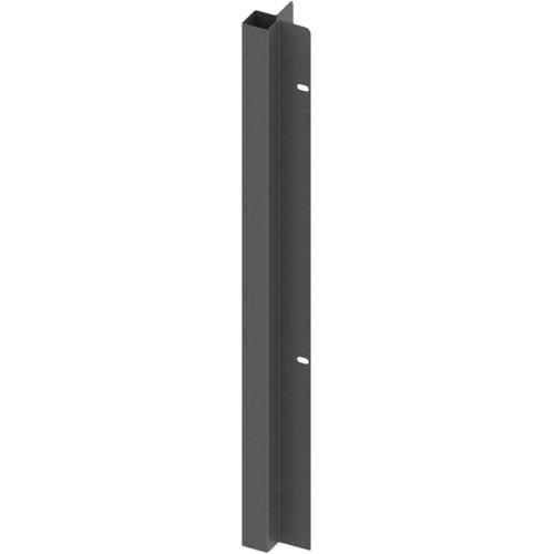 Poste encastrar esquina exterior apto para valla sobre muro gris forja