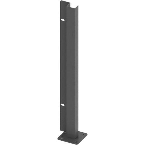 Poste atornillar inicio derecha apto para valla sobre muro gris forja